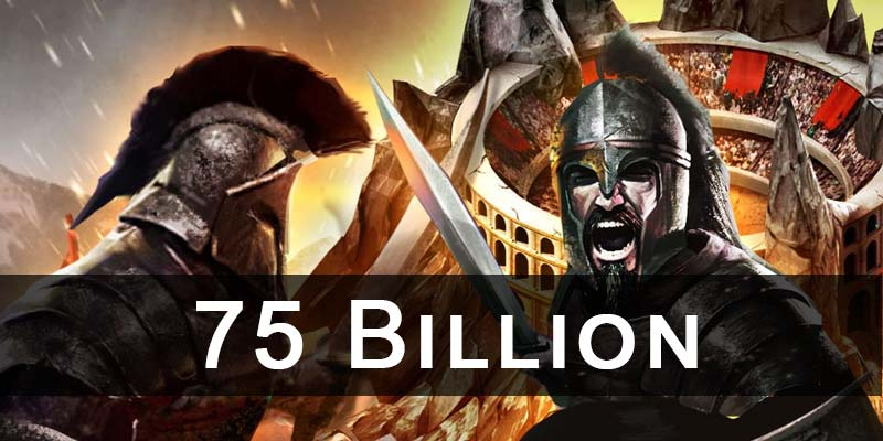 New zeroing record now 75 billion inside game of war